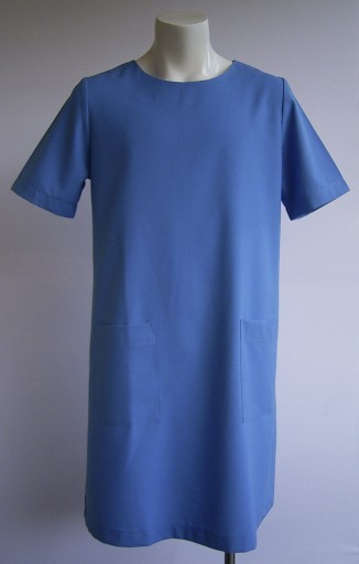Ladies Straight Dress Short Sleeve